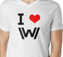I Love Westworld Mens V-Neck T-Shirt