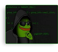 Hacker PEPE Canvas Print