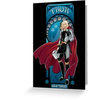 Thor-art nouveau style Greeting Card