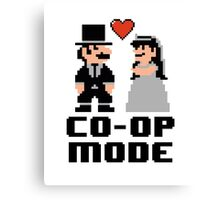 Co-op Mode - Newly Wed Gamer Couple Canvas Print