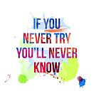 If you never try you will never know by tallula