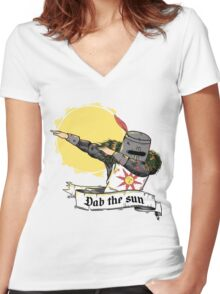 DAB the sun Women's Fitted V-Neck T-Shirt