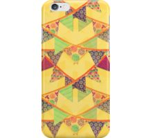 Bunting (Yellow) iPhone Case/Skin