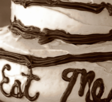 Alice's Eat Me Cake Sticker