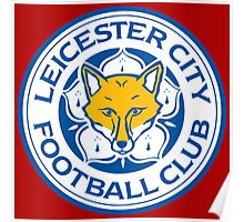 Leicester city red logo Poster