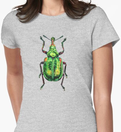 Green Weevil transparent background Womens Fitted T-Shirt