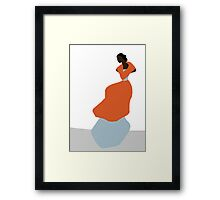 Woman in Orange Framed Print