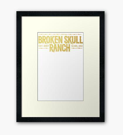 Broken Skull Gold Framed Print