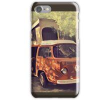 Orange Vintage VW Westfalia Camping iPhone Case/Skin