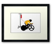Cyclist Blood Doping Framed Print