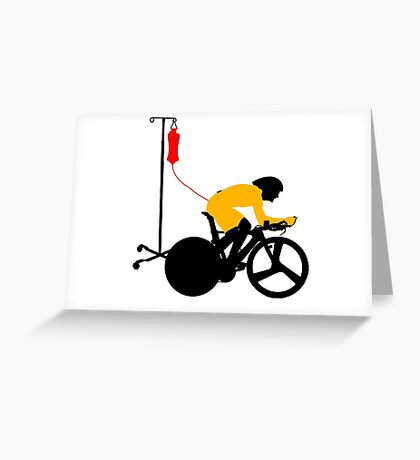 Cyclist Blood Doping Greeting Card