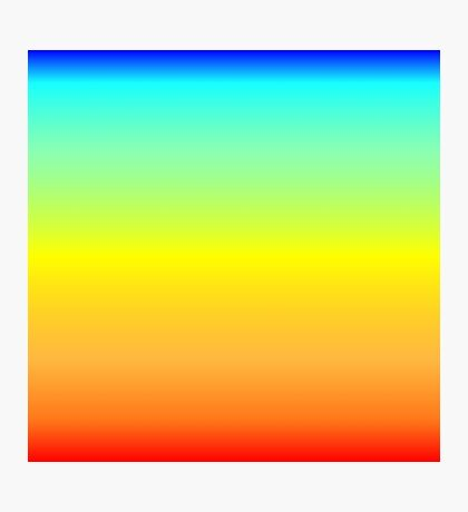 Color Gradient - Red | Orange | Yellow | Cyan | Blue Photographic Print