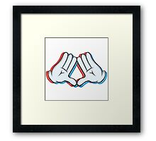 Stereoscopic swag hand Framed Print