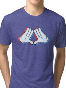 Stereoscopic swag hand Tri-blend T-Shirt
