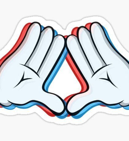 Stereoscopic swag hand Sticker