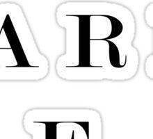 London Paris New York black and white typography Sticker