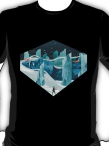The wanderer and the ice forest T-Shirt