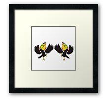 Dancing Christmas Toucans Framed Print