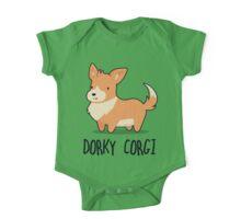 Dorky Corgi One Piece - Short Sleeve