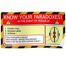 KNOW YOUR PARADOXES Poster