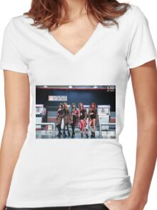 hotpink exid Women's Fitted V-Neck T-Shirt