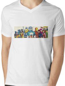 marvel superheroes avengers Mens V-Neck T-Shirt