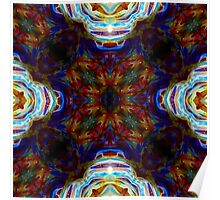Dark Rainbow Burst Abstract Psychedelic Poster