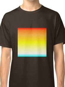 Color Gradient - Cyan | White | Yellow | Orange | Red Classic T-Shirt