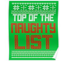 Funny Christmas - Top Of The Naughty List Poster