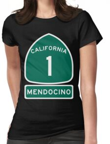 PCH - CA Highway 1 - Mendocino Womens Fitted T-Shirt