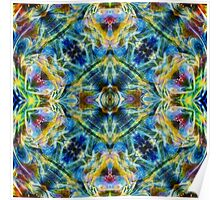Ultra Psychedelic Flower Child Abstract Poster