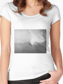 Christ The Redeemer in the Clouds Women's Fitted Scoop T-Shirt