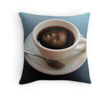 Ainsley Harriott in a Coffee Cup Throw Pillow