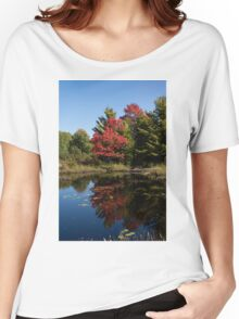 Red and Green - the Arrival of Autumn Women's Relaxed Fit T-Shirt