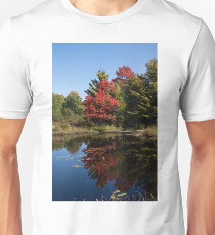 Red and Green - the Arrival of Autumn Unisex T-Shirt