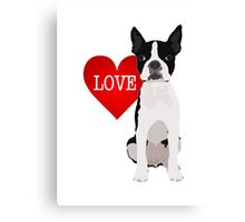 I love Boston Terriers Canvas Print