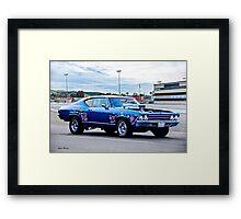 1969 Chevelle Malibu 'Muscle Performance' Framed Print