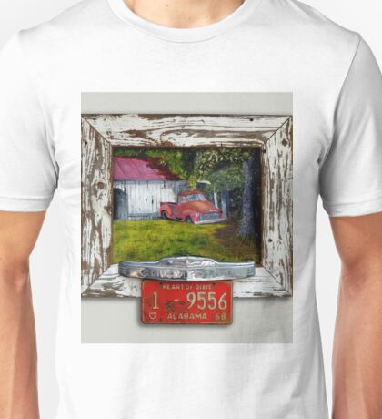 !953 Red Chevy Truck and Barn Unisex T-Shirt
