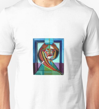 pattern face,framed. original oil painting,by c.a.2016 Unisex T-Shirt