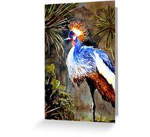 Exotic bird Greeting Card