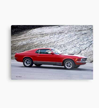 1970 Mustang Fastback Mach 1 Metal Print