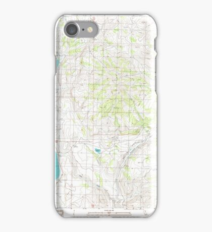 USGS TOPO Map California CA West of Snowstorm Mtn 102446 1989 24000 geo iPhone Case/Skin
