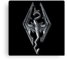 Skyrim Dragon Symbol Canvas Print