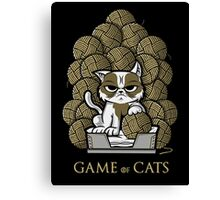 GAME OF CATS Canvas Print