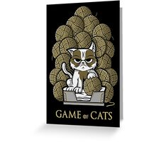 GAME OF CATS Greeting Card