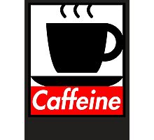 Caffeine coffee cup obey poster (I love coffee) Photographic Print
