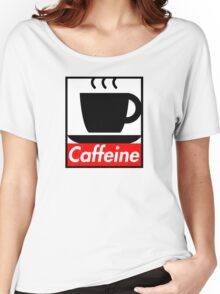 Caffeine coffee cup obey poster (I love coffee) Women's Relaxed Fit T-Shirt