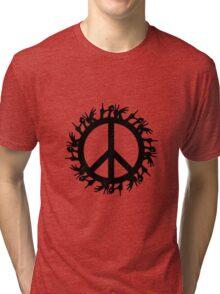 peace love Tri-blend T-Shirt