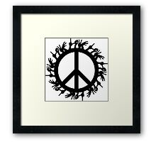 peace love Framed Print