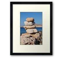 Ftenagia stones, Halki island Framed Print